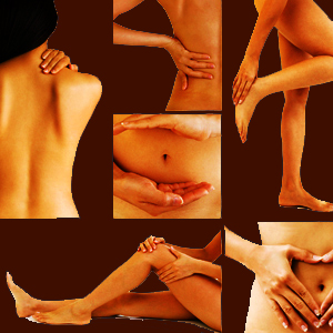 Woman Rubbing Lanicare™ Light Blend™ Lanolin Skin Care Serum on Many Different Parts of Her Body
