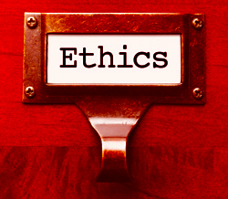 "File Drawer Labled ""Ethics"""